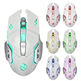 SOMESUN-Mouse sans Fil Gamer Souris Rechargeables Pré-Chargées 2400DPI 6Gaming...