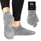 LA Active Grip Socken - Yoga Pilates Barre Ballet Abs Noppen Rutschfeste (Grau)
