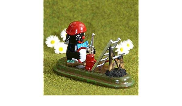 Sammelfigur Maulwurf Gärtner Höhe ca 7cm NEU Ganzjahresfigur Miniatur Seiffen