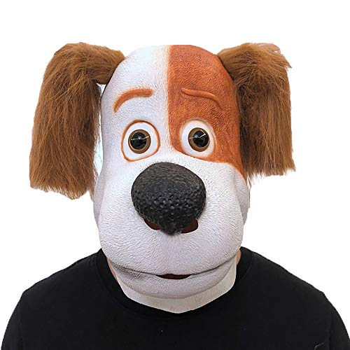 st Dance Requisiten Latex Zebra Maske Kopfbedeckung Aprilscherz Dress Up Party Requisiten (Color : Dog) ()