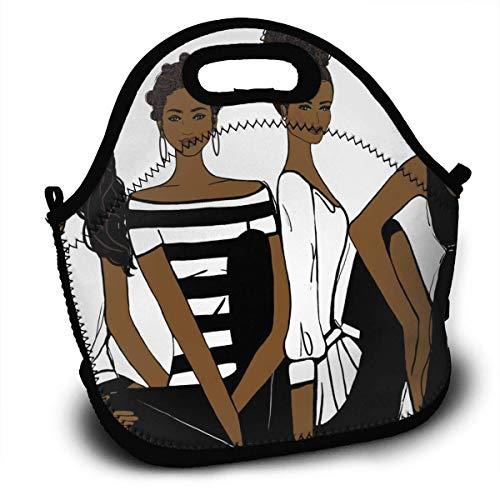 Wiederverwendbare weiche Lunchtasche für Arbeit und Schule, afrikanische amerikanische Schwestern, Clip-Art (Schule Clip Art)