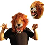 Best Adult Halloween Costumes - Adult Halloween Costume Party Latex Forrest Animal Lion Review