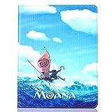 Apple iPad Air (iPad 5) Folio Moana Étui / Cuir de Protection en PU Intelligent Coque Flip / iCHOOSE / Moana & Maui - Canoë