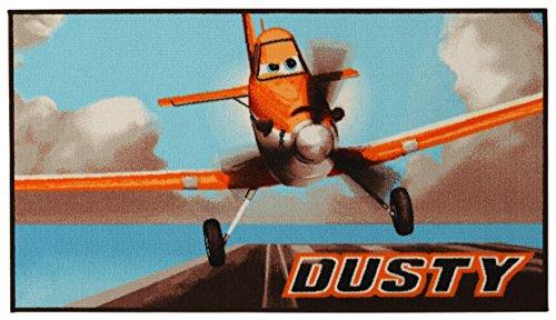 Disney 18438 Action Line Planes Teppich, Synthetikfaser, mehrfarbig, 80 x 140 x 1,12 cm