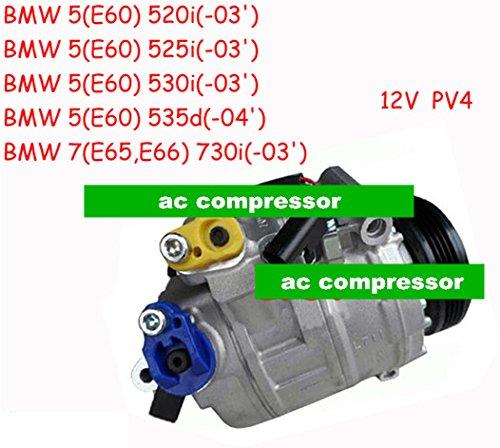 Preisvergleich Produktbild Gowe Klimaanlage Kompressor für Denso 7seu17C Klimaanlage Kompressor für Auto BMW 5E6003046452691785964526983098