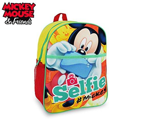 MK16105 Zaino scuola asilo elementari e tempo libero Mickey Mouse 31x25x10 cm. MEDIA WAVE store
