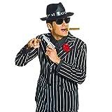 Gangster Pistole Mafia Revolver 20er Jahre Waffe Fasching Spielzeugwaffe Ganove Schusswaffe Kanone Al Capone Knarre Colt Charleston Mottoparty Accessoire Karneval Kostüm Zubehör
