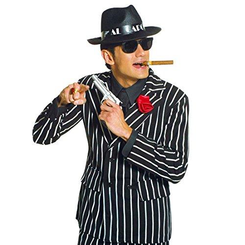 ia Revolver 20er Jahre Waffe Fasching Spielzeugwaffe Ganove Schusswaffe Kanone Al Capone Knarre Colt Charleston Mottoparty Accessoire Karneval Kostüm Zubehör (Al Capone Kostüm Kinder)