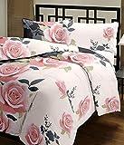 #9: Shopnetix Peach Floral Design Reversible Double Bed Quilt/AC Blanket/Dohar