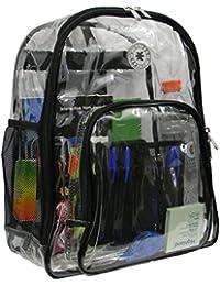 Heavy Duty Claro Mochila transparente ver a través de mochila estudiante escuela Bookbag