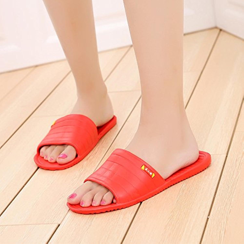 WXMTXLM Zapatillas de verano Zapatillas de piso de espuma de verano femenino arrastran antideslizante ligero par...