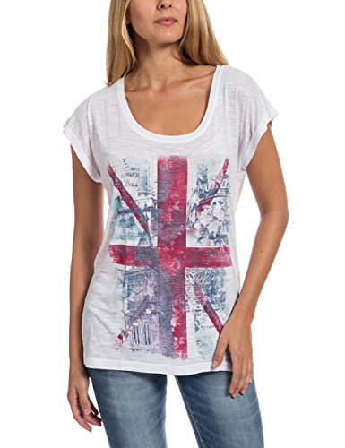 Timezone Damen T-Shirt Oversize T-shirt Weiß (Pure White 100)