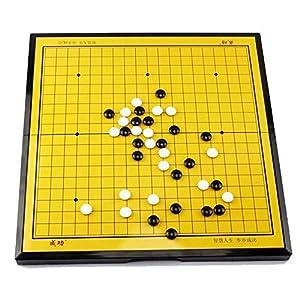 Dfghbn-YXWJ Go Game Set Magnetisches Go-Spielset Mit Einzelnen Konvexen Magnetischen Plastiksteinen Und Go-Brett…