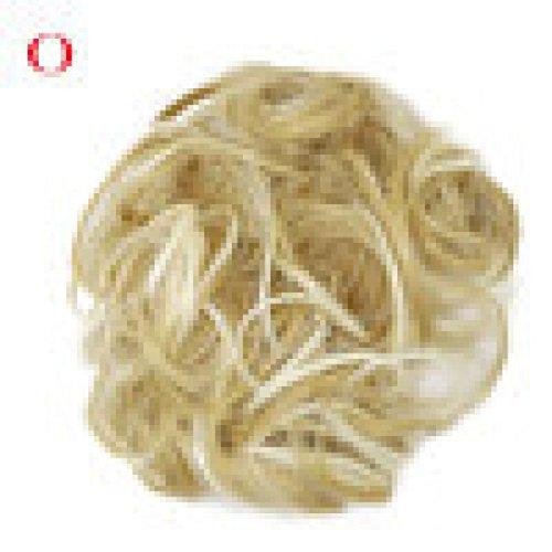 Hairpiece HKFV Frauen Curly Messy Bun Hair Twirl Stück Scrunchie Perücken Extensions Friseur Europäische und amerikanische Perücken Perücke Haar-Kreis (O) - 4-tier-rack-einheiten
