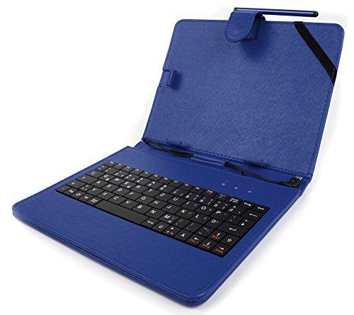 Deutsche QWERTZ-Tastatur mit blauer Schutzhülle für das Odys Connect 7 Pro (7 Zoll) und Junior Tab 8 Pro (8 Zoll) Kindertablet