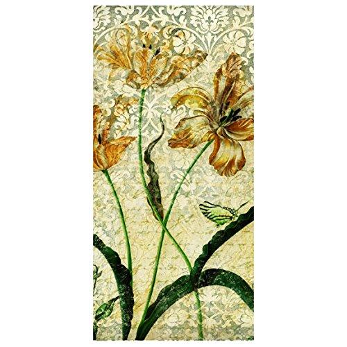 Flächenvorhang Set Vintage Grasses 250x120cm | Schiebegardine Schiebevorhang Raumtrenner Vorhang...
