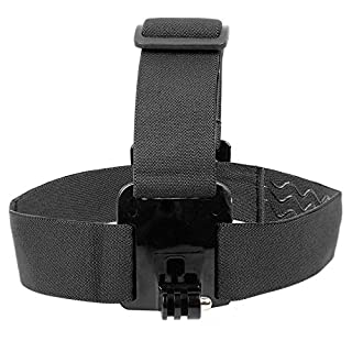 DURAGADGET Kopfband (schwarz) für die HTKJ Original 4K Dual Display Mini Ultra HD 1080P WiFi und die Action 4K Kamera Aoleca WiFi 2,0 Zoll Full HD 170°