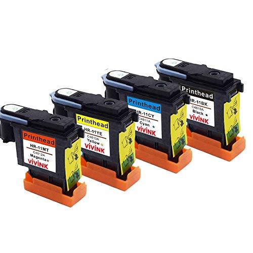 Vivink Testina di stampa rigenerata di ricambio per HP 11 testina di stampa C4810A C4811A C4812A C4813A