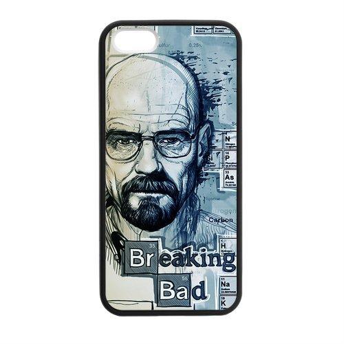 Breaking Bad Design Durable TPU Coque de protection Case Cover Coque de Protection pour Apple iPhone 55S, iPhone 5, iPhone 5, iPhone 55S Coque de protection Case (Blanc/Noir)