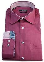Seidensticker Herren Langarm Hemd Splendesto Regular Fit rot strukturiert mit Patch 186476.47