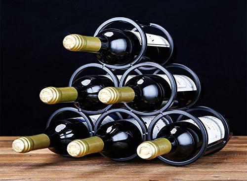 Casier à Vin Empilable à 3 Niveaux - Casiers à Vin De Style Classique Rond pour Bouteilles - Parfait pour Un Bar, Une Cave à Vin, Un sous-Sol, Une Armoire, Un Garde-Manger Tenez 12 Bouteilles