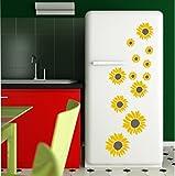 12 x Wandtattoo Sonnenblume Sonnenblumen Wandaufkleber Blume Aufkleber Wallpaper