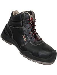 AIMONT - Calzado de protección de Piel para hombre gris gris oscuro gris Size: 43 mRdRe3D5J