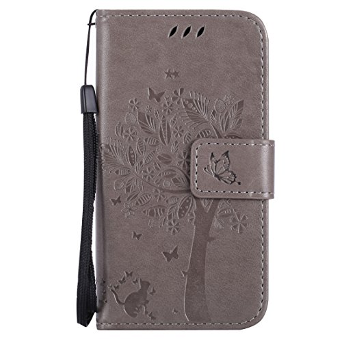 Nancen Compatible with Handyhülle Nokia Lumia 630/635 (4,5 Zoll) Flip Schutzhülle Zubehör Lederhülle mit Silikon Back Cover PU Leder Handytasche im Bookstyle Stand Funktion (Nokia Lumia 635 Handy Fall)