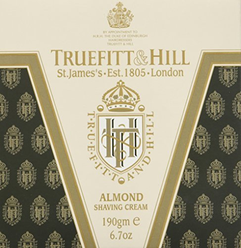 Truefitt & Hill Almond Shave Cream Bowl 190gm by Truefitt & Hill (Shave Almond Cream)