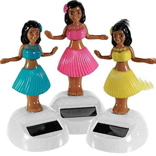 (Bada Bing 3er Sparset Solar Wackel Figur Hula Girl Hawaii Mädchen Tropical 3-Fach Sortiert TT)