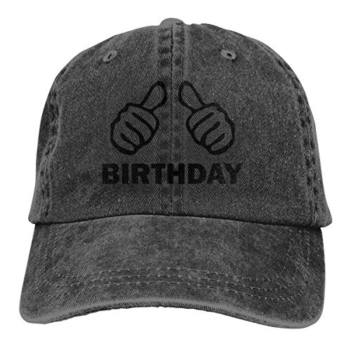 GiveUCap Adult Baseball Caps Hüte Happy Birthday 8 Dad Denim Hats Washed Baseball Caps Adjustable for Men Women