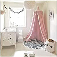 Kunmuzi Children Bed Canopy Round Dome, nursery decorations, Cotton Mosquito Net, Kids Princess Play Tents, Room Decoration for Baby