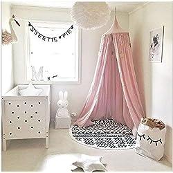Lit à baldaquin pour bébé - En coton - Moustiquaire pour chambre à coucher - Hauteur: 240 cm - Longueur: 270 cm