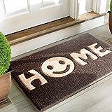 """Mrs Sleep zerbino di benvenuto con stampa della scritta """"Home"""" con smile, tappeto per ingresso antiscivolo, lavabile"""