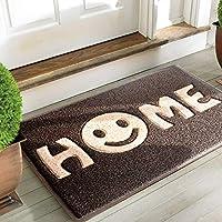 Alfombrilla Sweet Home de Mrs Sleep, para puerta de entrada, diseño de cara sonriente, antideslizante, lavable