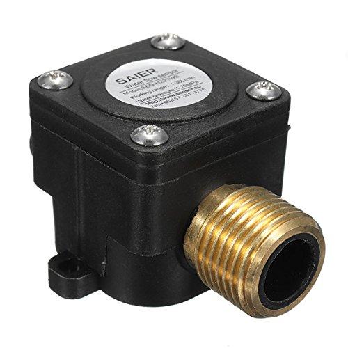 ChaRLes 1-30L/min Wasser Strom Sensor Meter DN15 G1/2 DC 5V Flüssigkeits-Fließzähler Schalter -