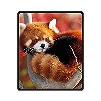 YISUMEI Blanket Blankets Soft Flannel Soft Fleece Blanket Bed Throw Funny Cute Red Panda