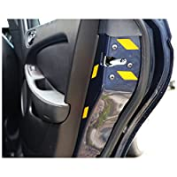 Car Door Jamb Boot Tailgate Reflective Safety Stickers (Yellow)