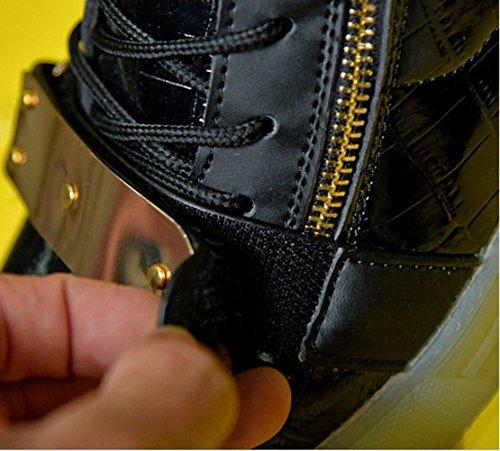 Leuchtend Schwarz present Wechseln Mode Aufladen Freizeitschuhe Laufschuhe Schuhe licht Usb Farbe junglest® Sneaker kleines Handtuch Fü Outdoorschuhe Sportschuhe 7 Led wAXrqHBvw