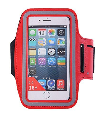 Bigood Sac de Bras Course à Pied Sport Extérieur Running Smartphont Bracelet Rouge