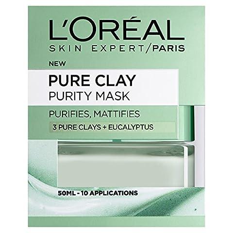 L'Oreal Paris 3 Pure Clays+Eucalyptus Purity Mask, 50ml
