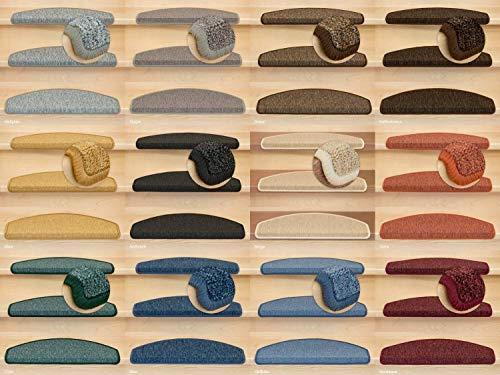 Kettelservice-Metzker Stufenmatten Rambo New Halbrund SparSet incl. Fleckenentferner Anthrazit 15 Stück - Modell-holz-bodenbelag