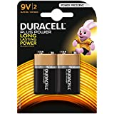 Duracell - Pile Alcaline - 9V x 2 - Plus Power (6LR61)
