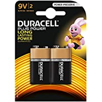 Duracell - Pile Alcaline - 9V x 2 - Plus Power (6LR61)