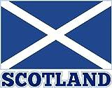 Etaia 15x19 cm Auto Aufkleber Fahne/Flagge von Schottland mit Schrift Scotland Sticker Caravan LKW Truck Europa Länder