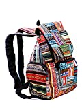 Canvas Rucksack Hippie Backpack Freizeitrucksack Bunt Multicoloured