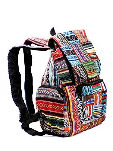 Baeres Rucksack Hippie Backpack Freizeitrucksack Bunt Multicoloured