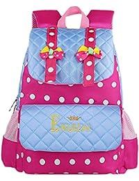 Y-BOA Sac à Dos Fille Scolaire Loisir Backpack École Cartable Fourre-Tout Princesse Coloré Pois