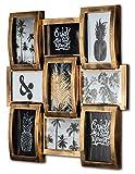 levandeo Bilderrahmen Collage 45x45cm 9 Fotos 10x15cm Kupfer Industrial Industrie Deko Glasscheiben