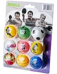 JOOLA FAN Balles de tennis de table Blister de 9 Multicolore
